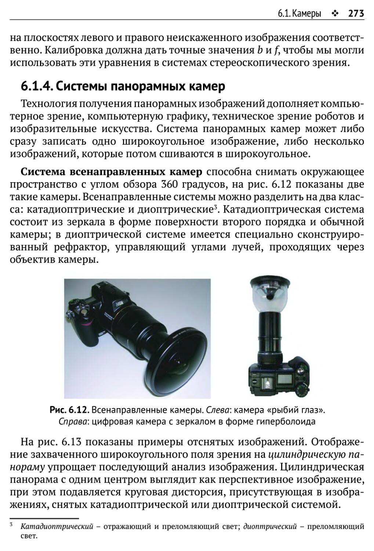 6.1.4. Системы панорамных камер